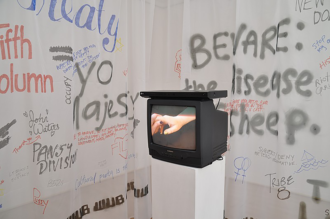 'Outhouse', (2013), Detail of video installation.